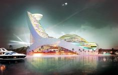located next to the caspian sea, the 90,000 sqm circular scheme will accommodate…