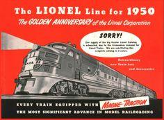 Lionel Trains catalog cover 1950