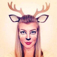 2+deer+halloween+makeup+ears.jpg (736×736)