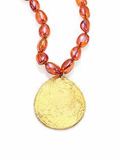 Fire Opal Quartz Pendant Necklace by Nest. Available at saksfifthavenue.com