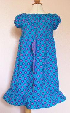MONSTERS INC SULLEY Inspired Peasant Princess Dress Girls Size 3/4