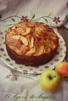 Healthy Cake, Healthy Treats, Healthy Desserts, Healthy Recipes, Apple Recipes, Sweet Recipes, Cake Recipes, Waffle Cake, Brownie Desserts