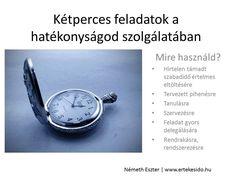 Mire valók a kétperces feladatok? Olvasd el!  http://www.ertekesido.hu/ketperces-feladatok/