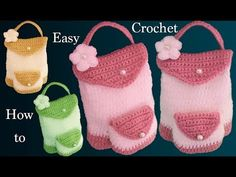 Learn To Crochet, Easy Crochet, Knit Crochet, Crochet Backpack, Knitting Stiches, Lightweight Backpack, Amigurumi Tutorial, Cheap Handbags, Crochet Purses