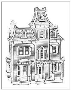 Printable coloring pages for adults Victorian Houses Google