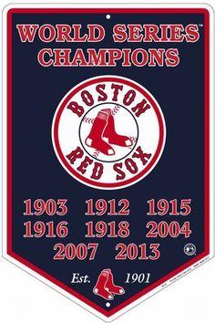 Boston Red Sox MLB World Series Champions Metal Banner Sign New #GalenEnterprises #BostonRedSox