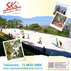 Quer momentos inesquecíveis com atividades ao ar livre? Ski Mountain Park! Gostou? Então vem curtir! Compre agora: www.ingressocomdesconto.com.br Televendas: (0xx11) 4412-5454