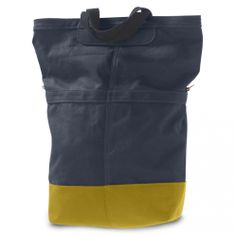 Linus Sac Pannier Navy & Yellow | Cyclechic | WANT!