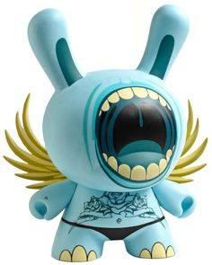 Blue Big Mouth Dunny by Deph from SDCC 2006
