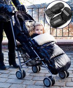 """Así son los sacos para bebés """"Polar Sac"""" para silla de paseo, de Bebemon.    En color negro, rojo o azul, con guantes a juego para la mamá, incluidos. Los velcros de los guantes permiten un agarre perfecto al manillar de la silla. ¿Te gusta la idea? ;) Color Negra, Baby Strollers, Polaroid, Children, Red Black, Blue Nails, Gloves, Walks, Game"""