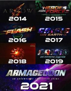 Dc Comics Series, Clash On, Superhero Shows, Infinite Earths, Television Program, Flash, Crossover, Names, Tv