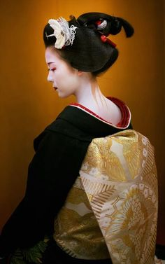 A maiko in the week before she becomes a geiko.