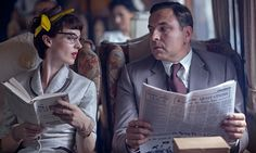 Jessica Raine and David Walliams as Agatha Christie's Tuppence and Tommy Beresford in 'Partners in Crime' (2015)