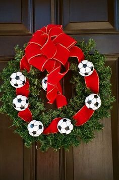 Christmas with a kick...made for a soccer ball fan