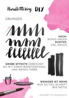 s i n n e n r a u s c h: [Nachmachtipp] DIY Handlettering von Jeannette Mokosch