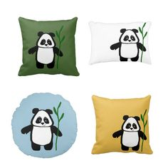 """A collection of """"Bamboo the Panda"""" cushions and pillows!"""