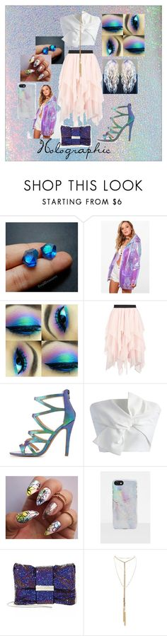 """""""Holographic"""" by mrsdman-kyle on Polyvore featuring Gipsy, Boohoo, Charlotte Russe, Chicwish, Missguided and Jimmy Choo"""