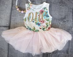 First Birthday Outfit First Birthday Dress Pink and Gold