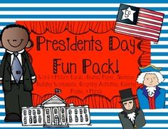 Presidents Day Fun Pack! Printables & Activities
