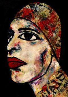 "Saatchi Art Artist CARMEN LUNA; Painting, ""81-RETRATOS Expresionistas. Divo."" #art http://www.saatchiart.com/art-collection/Painting-Assemblage-Collage/Expressionist-Portrait/71968/51263/view"