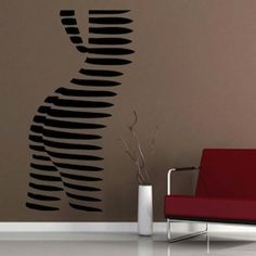 Abstract Female Body Wall Decal | Trendy Wall Designs