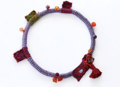 Wrap and Rope Necklace  Tassel Burgundy by stellacreations on Etsy, $60.00