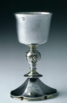 Recusant chalice. English (London). IH, about 1650–70. Silver, parcel gilt