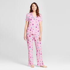 Nite Nite Munki Munki Women s T-Shirt and Pants Pajama Set - Light Pink Xxl d7965effe