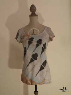 Birds on the wire, Unique Tie-Die for women, made by FreedomFactory