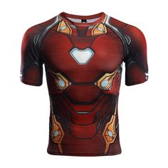 Marvelous Rashguard - t-shirt: Iron man Infinity War New Armor Mark – Search tags:  #2XL #3XL #compressionapparel #compressioncrossfit #compressiongear #compressionlongsleeves #compressionshirt #compressionshirts #compressionworkout #L #M #rashguard2018 #rashguardapparels #rashguardbuy #rashguardcanada