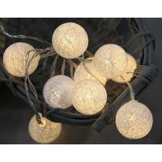 Světelný řetěz s kuličky STAR TRADING Jolly - krémový (Vánoční osvětlení) - Led, Design, Candle, Garlands
