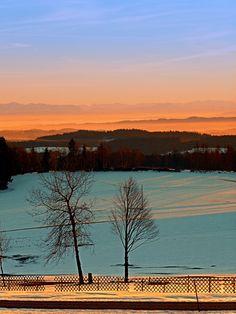 Colorful winter wonderland sundown VI | landscape photography. Afiesl, Österreich / Austria