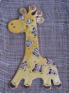 Роспись жирафочка Краска Тесто соленое фото 1