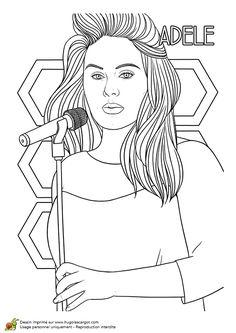 Dessin de la chanteuse madonna coloring pages pinterest la mode and madonna - Coloriage chanteuse ...
