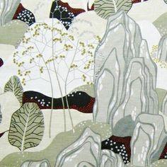 Image of Scandinavian Tradgard Fabric Diy Pillows, Cushions, Scandinavian Fabric, Diy Cushion, Diy Interior, Marimekko, Vintage Fabrics, Cotton Linen, Print Patterns
