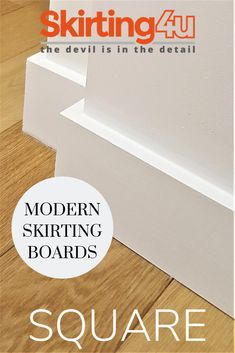 Square skirting board- create simple, clean lines in your home by using this as an accent in the interior. Best Picture For wrap Skirt For Your Taste You are looking for something, and it is going to Baseboard Styles, Baseboard Trim, Mdf Skirting, Skirting Boards, Modern Baseboards, Removing Baseboards, Interior Door Trim, Farmhouse Trim, Moldings And Trim