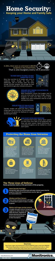 Home Security: Protecting The Home From Intrusion Infographic
