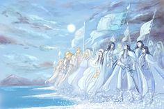 Fingolfin unfurled his blue and silver banners, and blew his horns, and flowers sprang beneath his marching feet, and the ages of the stars were ended. High Fantasy, Fantasy Art, History Of Middle Earth, Lotr Elves, Elf Art, Jrr Tolkien, Dragon Age, Lord Of The Rings, Fantasy Characters