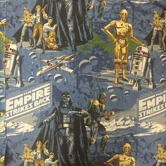 Set of 2 Vintage Star Wars Empire Strikes Back Curtains! The Empire Strikes Back, Boba Fett, A Boutique, Vintage Items, Archive, Star Wars, Curtains, Stars, Movie Posters