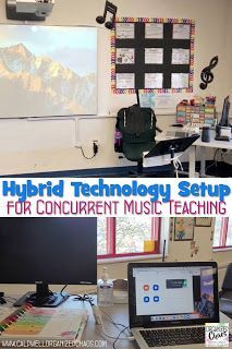 I've been teaching concurrently- synchronous distance learners and in-person students in the same class at the same time- since the beginning of this school year, and I have been on the hunt for a technology setup that streamlines my teaching the whole time. After trying out several solutions this is the one that has worked best for me, and I hope other music teachers find this useful as well! Music Teachers, Music Classroom, Teaching Music, Elementary Choir, Elementary Music Lessons, Music Education Activities, Teacher Resources, Embrace The Chaos, Classroom Management Tips