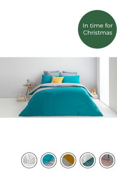 b2a3f1ba435 MADE 100% Cotton Reversible Double Bed Set