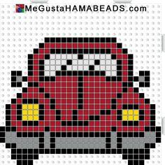 megustahamabeads escarabajo rojo