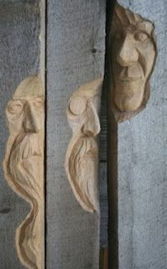 Great Advice For Having Fun With Woodworking – – Schnitzerei Wood Carving Faces, Wood Carving Patterns, Wood Carving Art, Chip Carving, Tree Carving, Art Sculpture En Bois, Garden Sculpture, Wood Projects, Woodworking Projects