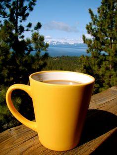 coffee-Tahoe morning
