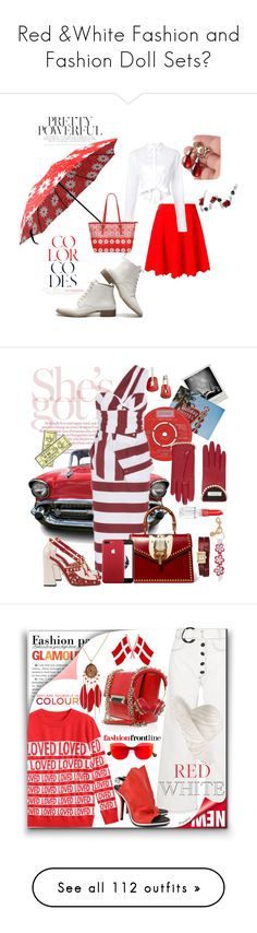 """Red &White Fashion and Fashion Doll Sets🍄"" by ragnh-mjos ❤ liked on Polyvore featuring contest, white, red, Jonathan Simkhai, Tome, redandwhite, fashionandfashiondo, N°21, Gucci and Mattioli"