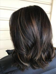 Balayage dark hair caramel balayage hair