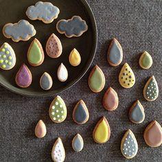 #diy #ledeclicanticlope / Cookies Nuage et Gouttes de Pluie Via hashgr.am
