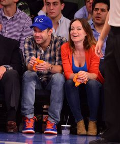 Olivia Wilde showed her pride for the New York Knicks in a blue tank 6ce810e03d