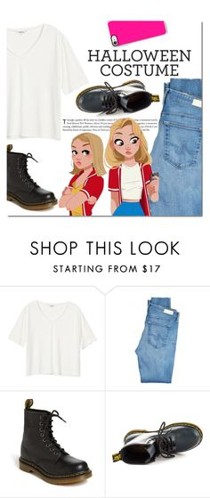 """""""DIY Halloween Costume"""" by danielle-487 ❤ liked on Polyvore featuring Monki, AG Adriano Goldschmied, Dr. Martens, Casetify, halloweencostume and DIYHalloween"""