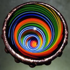 One of a kind contemporary art glass Vortex Marble, created by Tim Keyzers